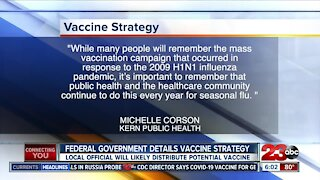 Federal officials outline strategy for potential COVID vaccine