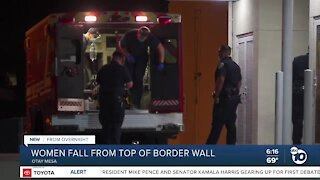 Women taken to hospital after fall from border wall