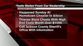 $100,000 worth of tools stolen in Jackson Co. - Video