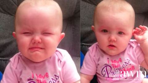 Mom Catches Baby Pretending To Cry, Her Reaction When She Realizes She's Caught Is Too Cute