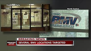 Three Bureau of Motor Vehicle locations in Northeast Ohio shot up overnight - Video