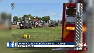 Man pinned under forklift Punta Gorda