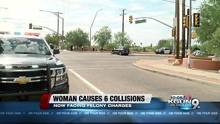 TPD: Woman facing felony charges after several car crashes - Video