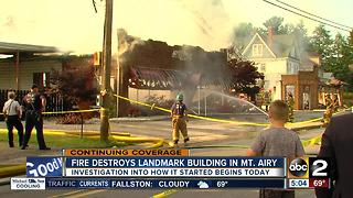 Fire destroys landmark building in Mt. Airy - Video