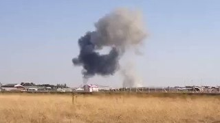 Pilot Dies in Eurofighter Crash Near Spanish Air Base - Video