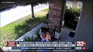 Bakersfield natvie good deed goes viral - Video