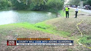 PCSO unclear what caused man to drive into pond - Video