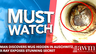 Man Discovers Mug Hidden In Auschwitz, X-Ray Exposes Stunning Secret - Video