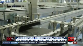 COVID-19 vaccine expected in Kern County by Thursday or Friday