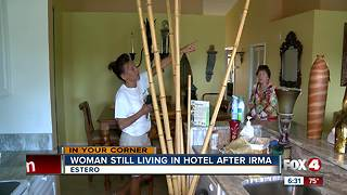 Woman still living in hotel four months after Irma