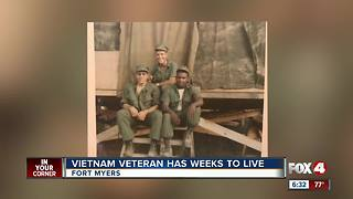 Vietnam veteran has weeks to live - Video