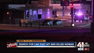 Woman killed by hit and run driver - Video