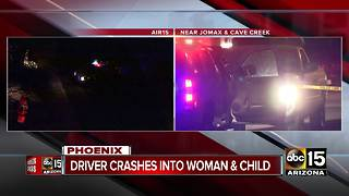 Woman, child struck by car in north Phoenix - Video