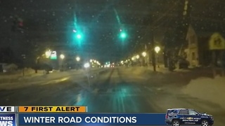 Plows make progress on the roads after Lake Effect storm - Video