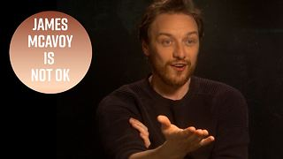 James McAvoy freaks out when he meets this interviewer - Video