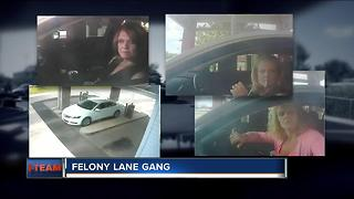Felony lane gang turns victims into suspects - Video