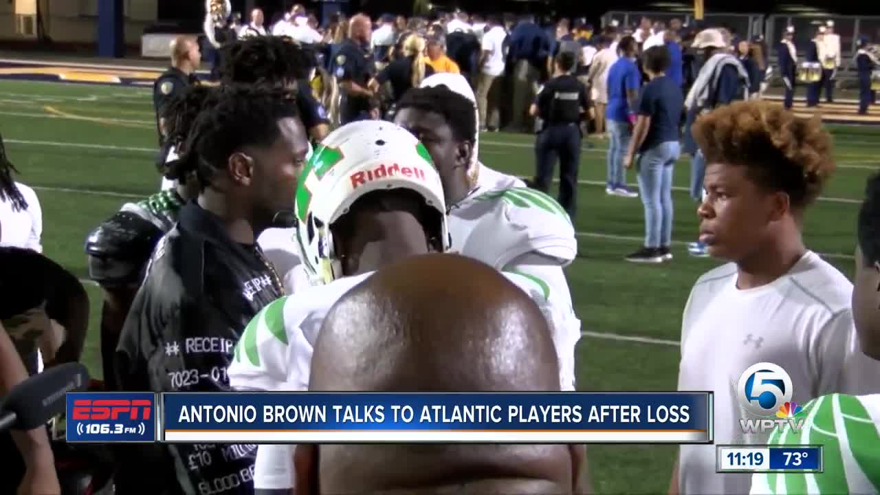 Antonio Brown meets with Atlantic players after loss