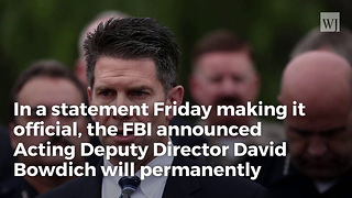 Breaking: FBI Director Officially Announces Mccabe Replacement