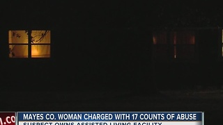 Mayes County Woman Charged With 17 Counts Of Abuse - Video