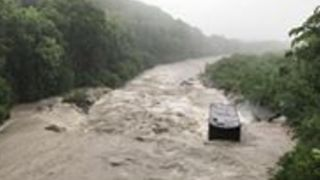 River Breaks Its Banks on Reunion Island as Tropical Cyclone Dumazile Hits - Video