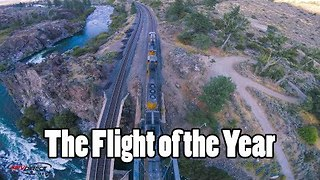Drone Pilot Shows Extreme Skill During Train Side Flight - Video