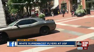 USF students upset to find white supremacist fliers on-campus