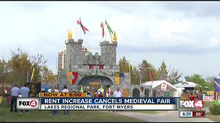 Medieval Faire at Lakes Park cancelled over fee increase - Video