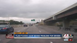 Flooding, potholes leave drivers stranded despite warnings from first responders - Video