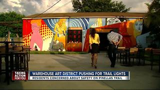 Warehouse Arts District pushing for trail lights - Video
