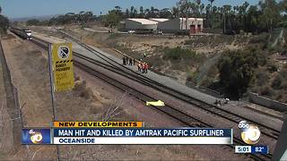 Pedestrian struck and killed on railroad track in Oceanside