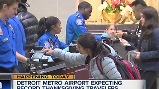 Detroit Metro Airport expecting record Thanksgiving travelers - Video