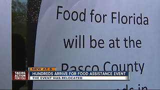 Hundreds turn out for food assistance - Video