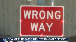 New warning signs about wrong-way drivers - Video