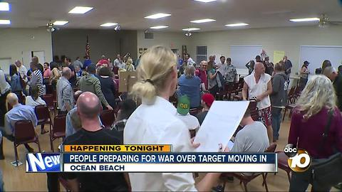 People prepare for war over Target in Ocean Beach