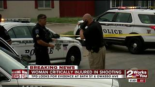 Woman critically injured from South Tulsa shooting - Video