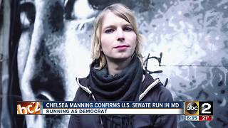 Chelsea Manning confirms U.S. Senate run in Maryland - Video