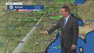 Evening rain/storm chances