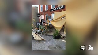 SoBo Cafe's parklet in South Baltimore destroyed after car drives through it