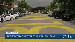 Former Tulsa Police Chief, Weighing in on the Black Lives Matter Mural