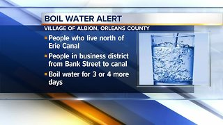 Parts of Village of Albion under boil water advisory