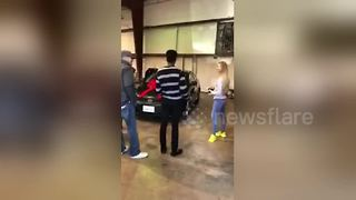Boy receives car from girlfriend's family for his birthday - Video