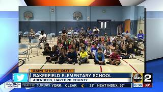 Good morning from students and staff at Bakerfield Elementary School - Video