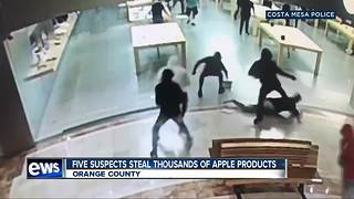 Thieves caught on camera stealing Apple products in Orange County store - Video
