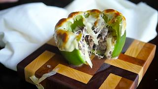 Philly Cheesesteak Stuffed Bell Peppers - Video