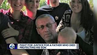 Fight for justice for a father who died protecting his son - Video