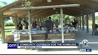 Community outreach for the homeless in Lake Worth Beach