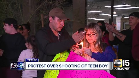 Protest held over shooting of Tempe teen boy