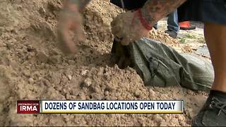 Dozens of sandbag locations in Tampa Bay are open Wednesday
