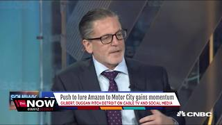 Detroit Mayor Duggan and Dan Gilbert go national to lure Amazon to city - Video