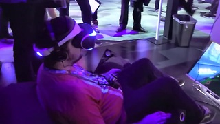 Sony 'Project Morpheus' virtual reality headset - Video